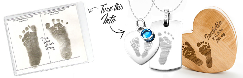Custom Baby Footprint Jewelry