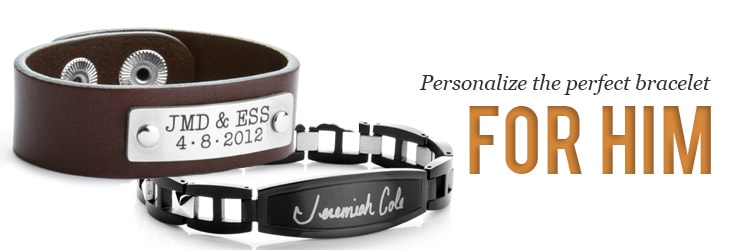 leather custom dp men amazon women engraved bracelet com personalize for man