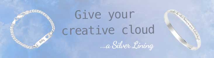Engraved Silver Bracelets
