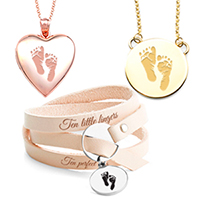 personalized baby footprint jewelry