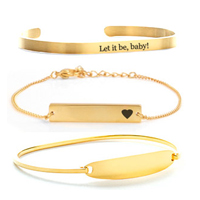 personalized gold bracelets