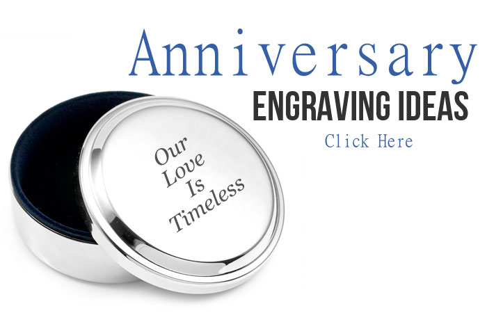 Anniversary Engraving Suggestions