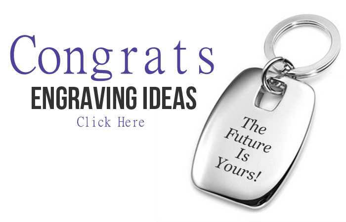 Congratulations Engraving Suggestions