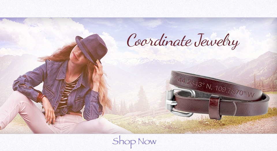 Coordinates jewelry is a perfect gift to remember a special place!