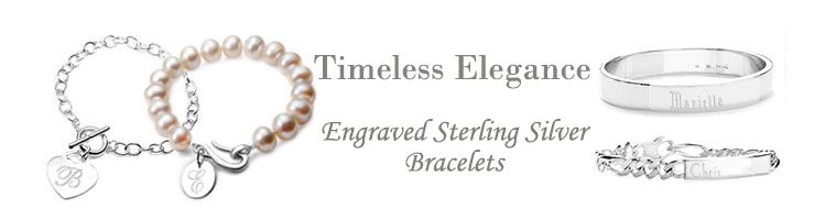 personalized silver bracelets