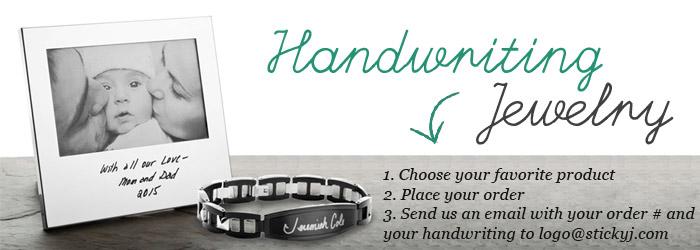 Handwriting jewelry plus handwriting gifts