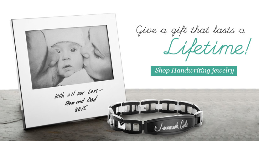 Hand writing jewelry is the perfect gift for anyone this holiday season!