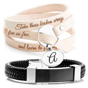 Personalized Leather Bracelets