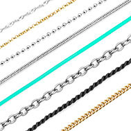 chains for engraved necklaces
