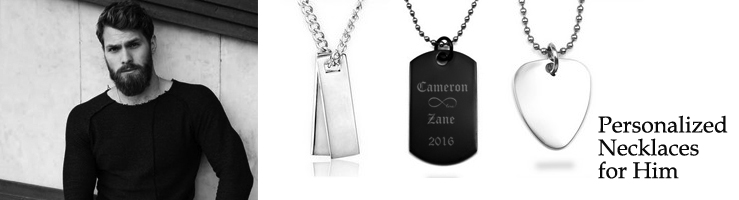engraved necklaces for him