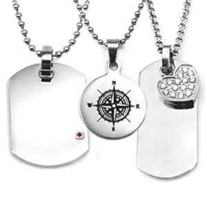 Engraved necklaces personalized kids necklaces stainless steel engraved necklaces aloadofball Image collections