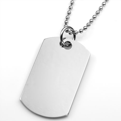 Personalized Dog Tag Necklace with Handwriting inset 1