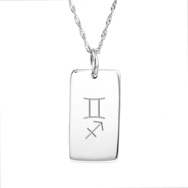 Engraved Silver Dog Tag Necklace inset 1