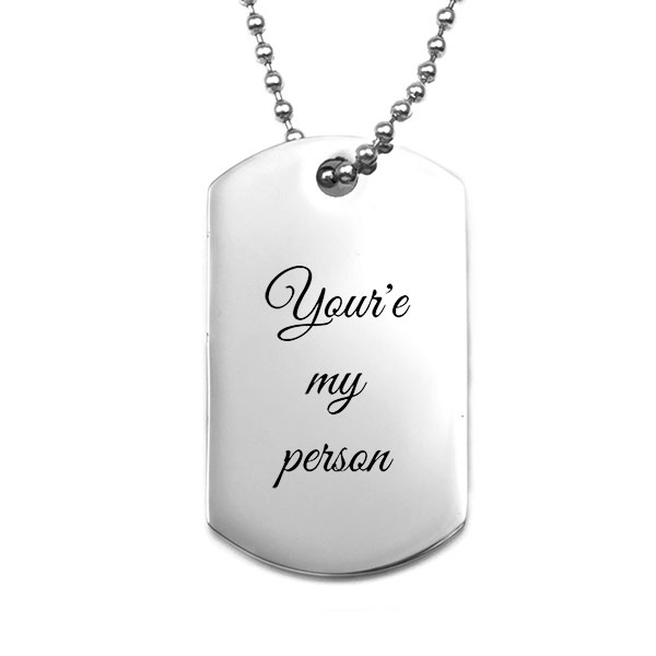 Personalized Steel Dog Tag inset 2