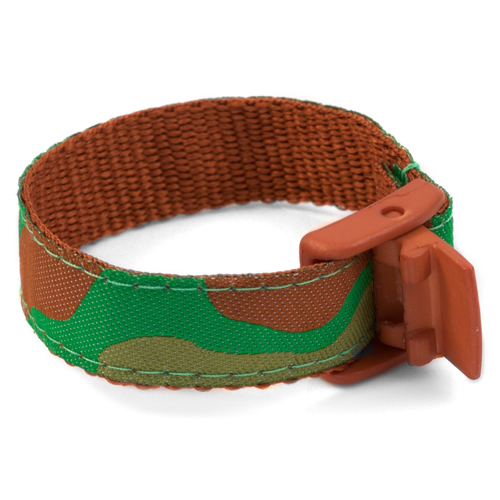 Forest Camo Bracelet with Safety ID Tag for Kids inset 1