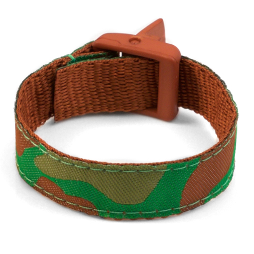 Forest Camo Bracelet with Safety ID Tag for Kids inset 2