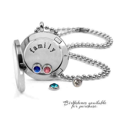 Family Personalized Locket with Additional Birthstones inset 1