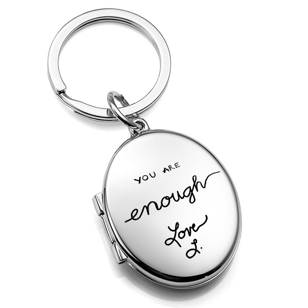 Signature Handwriting  Personalized Locket Key Chain inset 2