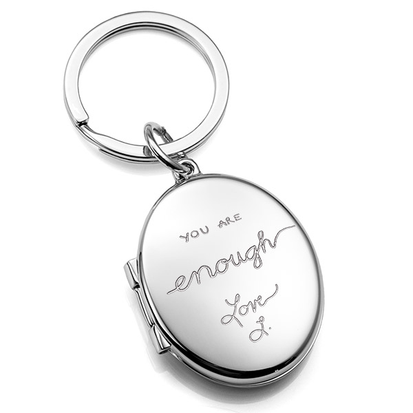 Signature Handwriting  Personalized Locket Key Chain inset 3