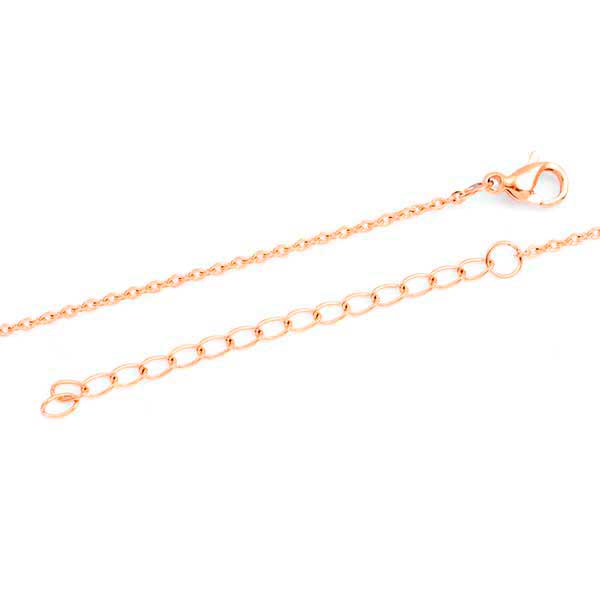 Personalized Rose Gold Handwriting Bar Necklace inset 1