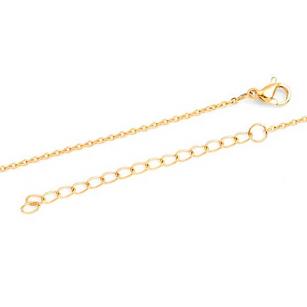 Yellow Gold Engraved Handwriting Bar Necklace inset 1