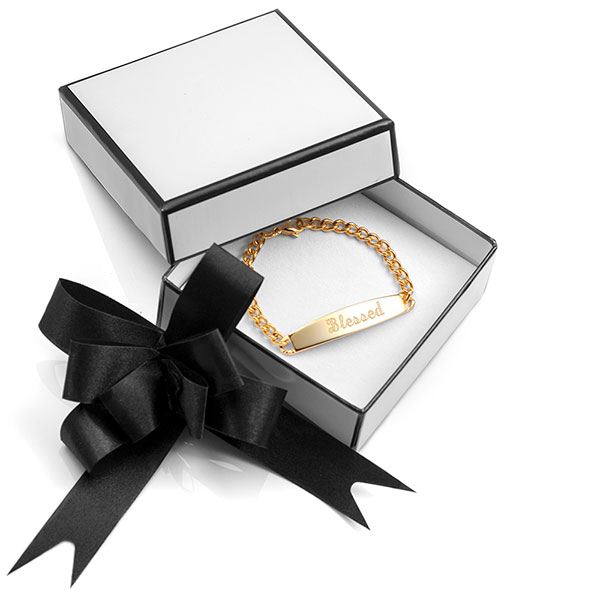 White Gift Box with Elegant Black Bow for Jewelry inset 1
