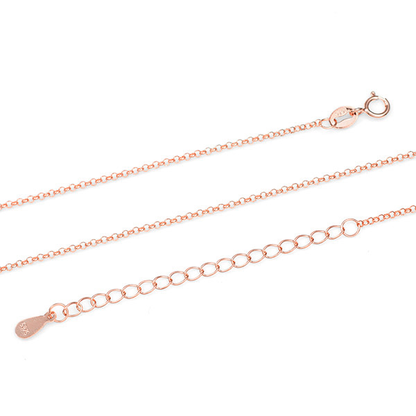 Artisan Rose Gold Personalized Locket Necklace inset 1