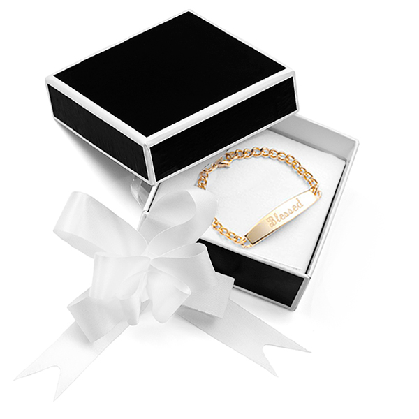 Black and White Gift Box with White Bow for Jewelry inset 1