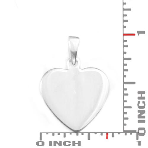 Custom Engraved Silver Heart Pendant inset 1