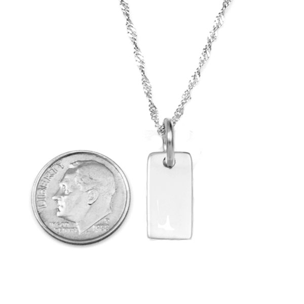 Petite Sterling Silver Custom Engraved Pendant inset 2