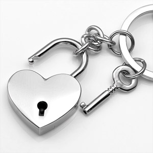Heart Shaped Engravable Keychain & Charm inset 1