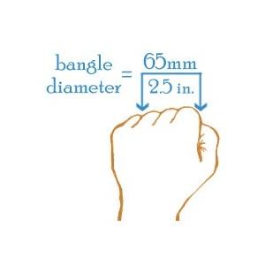 Silver Engraved Bangle Bracelet - 65mm Diameter 8 Inch inset 1