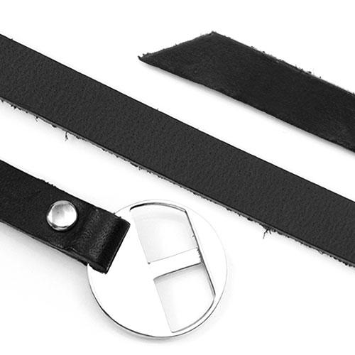 Personalized Adjustable Black Leather Charm Bracelet inset 1