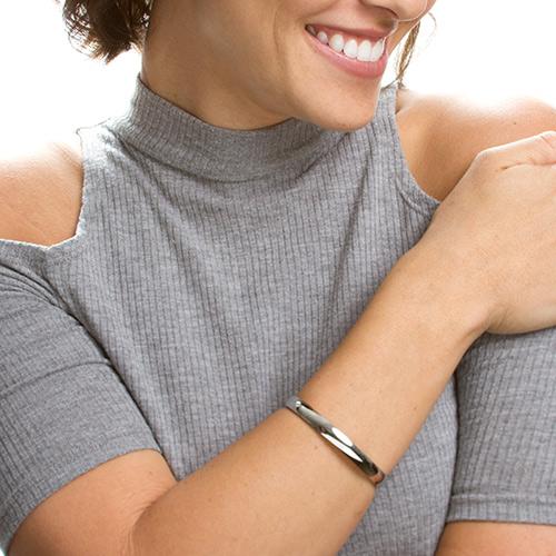 Yara Custom Engraved Latitude Longitude Bangle Bracelet  inset 2