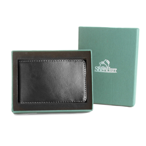 Scout Engraved Initial Mens Genuine Leather Money Clip Wallet inset 3