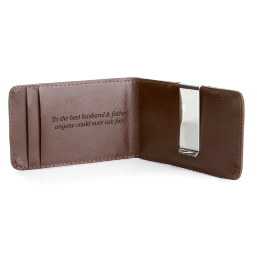 Ranger Personalized Genuine Leather Money Clip Wallet for Men inset 2