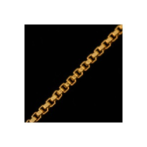 .9mm 14k Gold Plated Box Neck Chain 16 - 20 inch inset 1