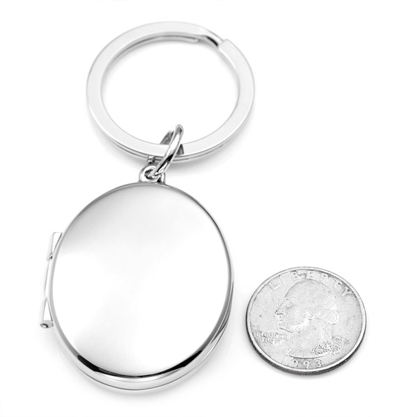 Silver Personalized Locket Keychain  inset 3