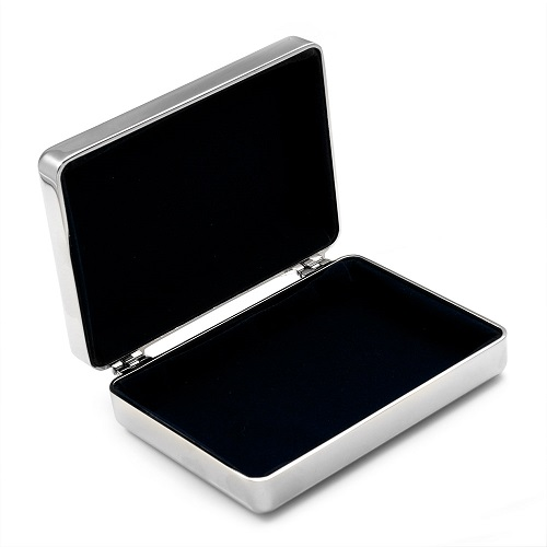 Engravable Jewelry Box with Velvety Blue Lining inset 1