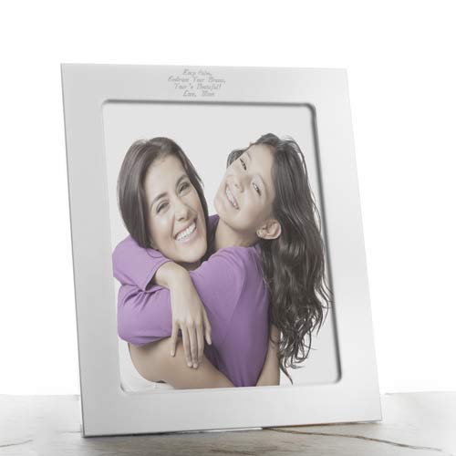 Polished Silver Personalized Picture Frames inset 1