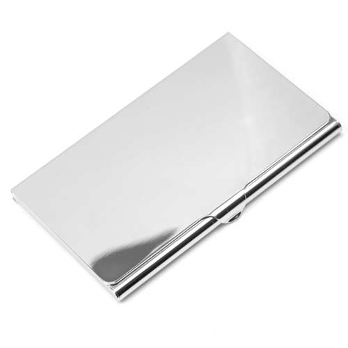 Polished silver plated business card case colourmoves Choice Image