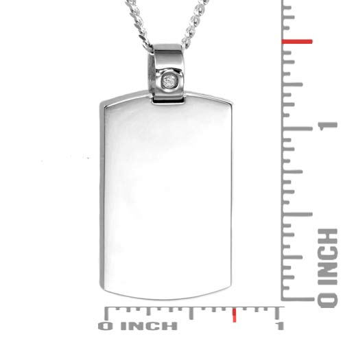 Diamond Stud Personalized Dog Tag  Necklace inset 1