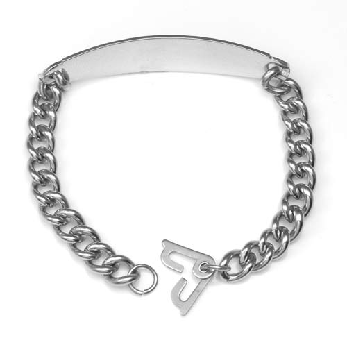 Silver ID Wide Bracelet 7 1/2 - 9 In (Optional Safety Clasp) inset 1