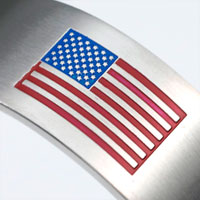 Personalized Bracelets American Flag Stainless Cuff Small - Large inset 1