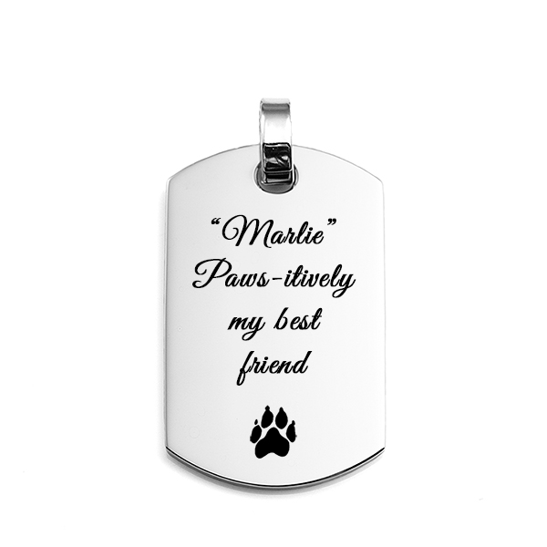 Engraved Dog Tag Pendant Stainless Steel inset 1