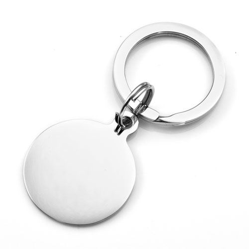 Round Steel Handwriting Gifts Keychain inset 1