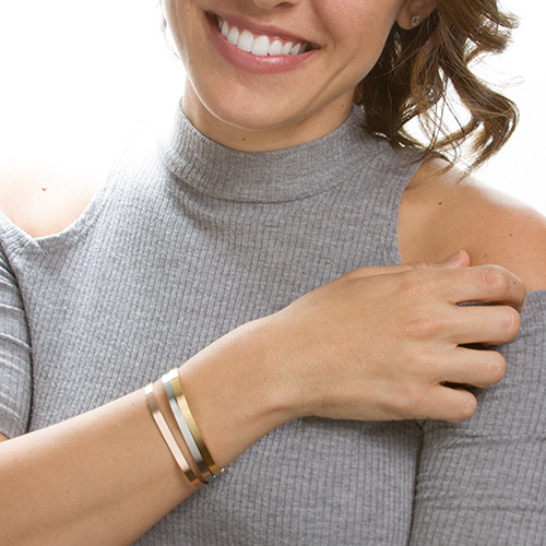 Dainty Cuff Engravable Bracelets for Her inset 1