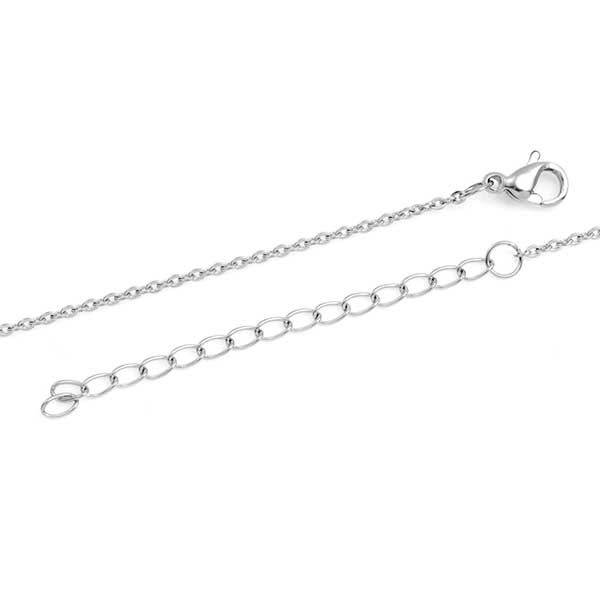 Small Round Silver Engraved Necklace inset 1