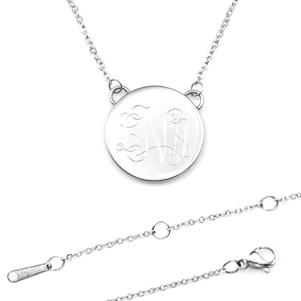 Nyxs Minimal Engraved Necklaces for Her inset 3