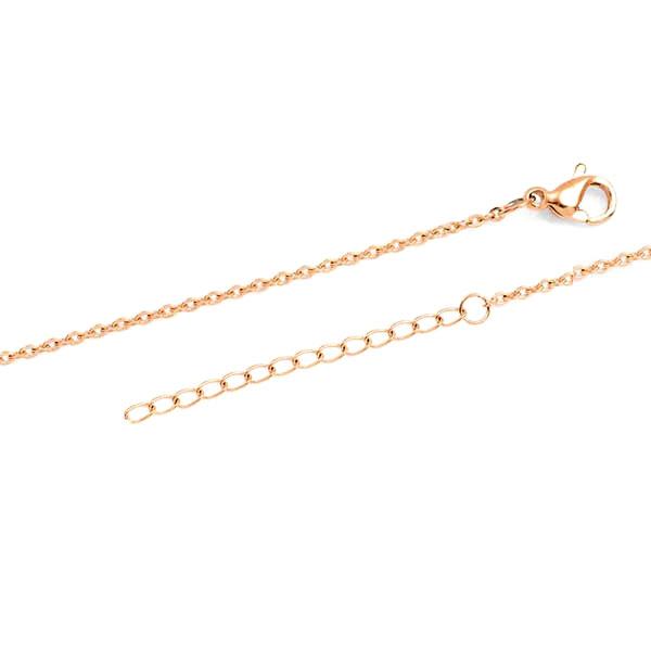 New Square Rose Gold Engraved Necklace inset 1